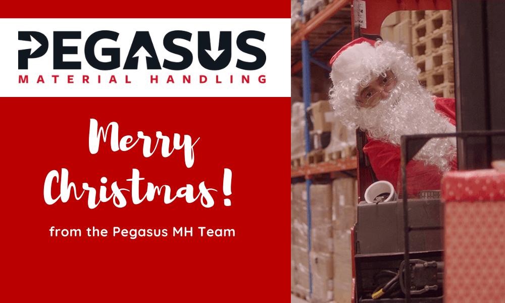 Seasons Greetings from all of the team at Pegasus Material Handling