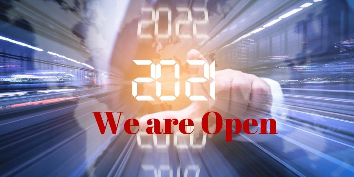 We are open for business